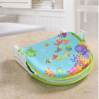 Collapsible Baby Bath Seat for Infant Safety Bath Supports Non slip Bath Mat for Newborn Bath Products Baby Shower Pads