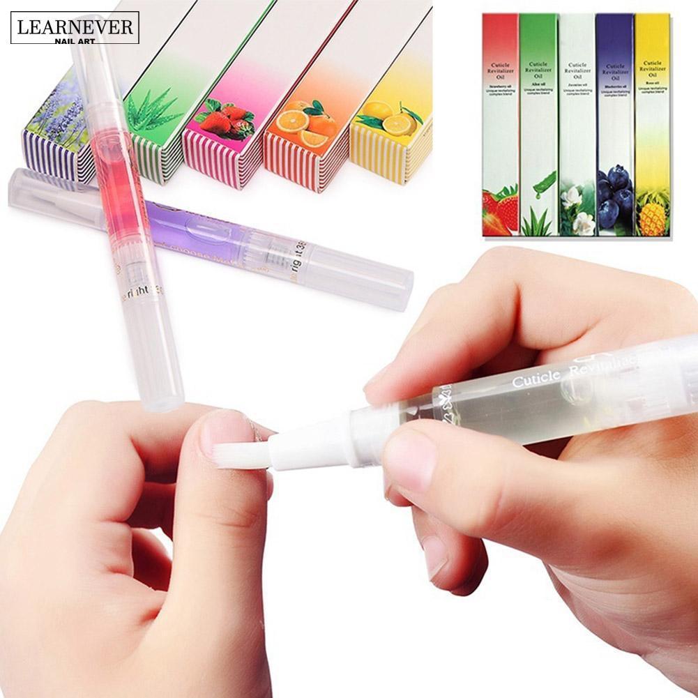 LEARNEVER 15 ריחות נייל תזונה שמן עט נייל טיפול לציפורן Revitalizer שמן למנוע דחס לק להזין עור