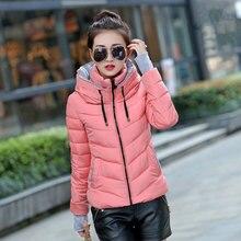 Mujeres chaqueta de invierno parka espesar Abrigos Mujer Abrigos diseño con capucha de algodón acolchado más tamaño chaqueta Invierno Caliente Tops mz709