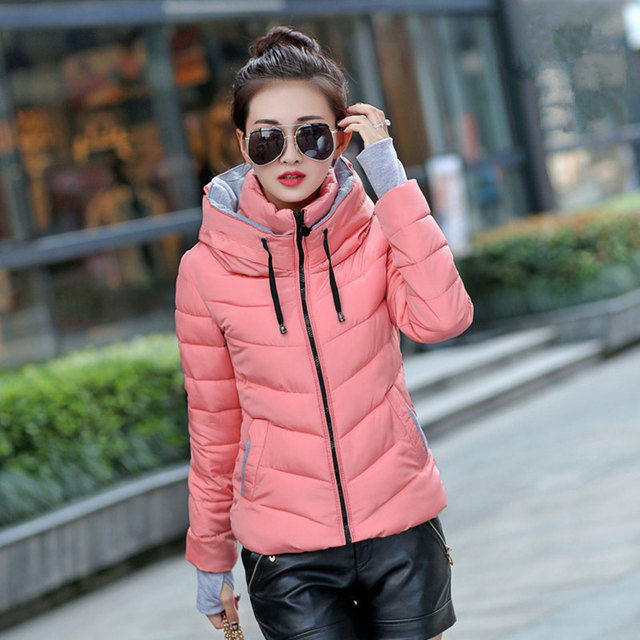 女性の冬ジャケットパーカー厚みの上着女性のコートフード付きデザイン綿が詰めプラスサイズチャケータinvierno暖かいトップスMZ709