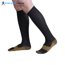 Fancyteck Copper Compression Socks Reduce Swelling 3Pairs Antimicrobial Stocking Running