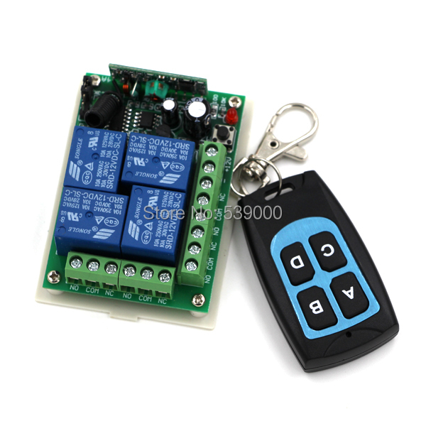 Smart House Remote Control Switch System DC 12V 4CH Wireless Teleswitch Remote Controlling Switch ON/OFF