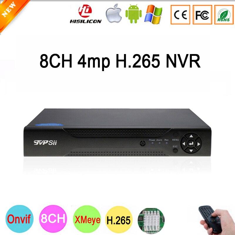 Dahua Панель Hi3536D Xmeye 8CH * 4MP/4CH * 5MP HD цифровой 8CH 8-канальный 4MP H.265 наблюдения IP камера onvif CCTV NVR Бесплатная доставка