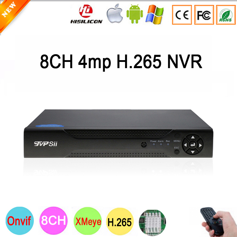 Dahua Painel Hi3536D Xmeye 8CH * 4MP/4CH * 5MP HD Digital 8CH 8 Canal 4MP H.265 Vigilância IP câmera de CCTV ONvif NVR Frete Grátis