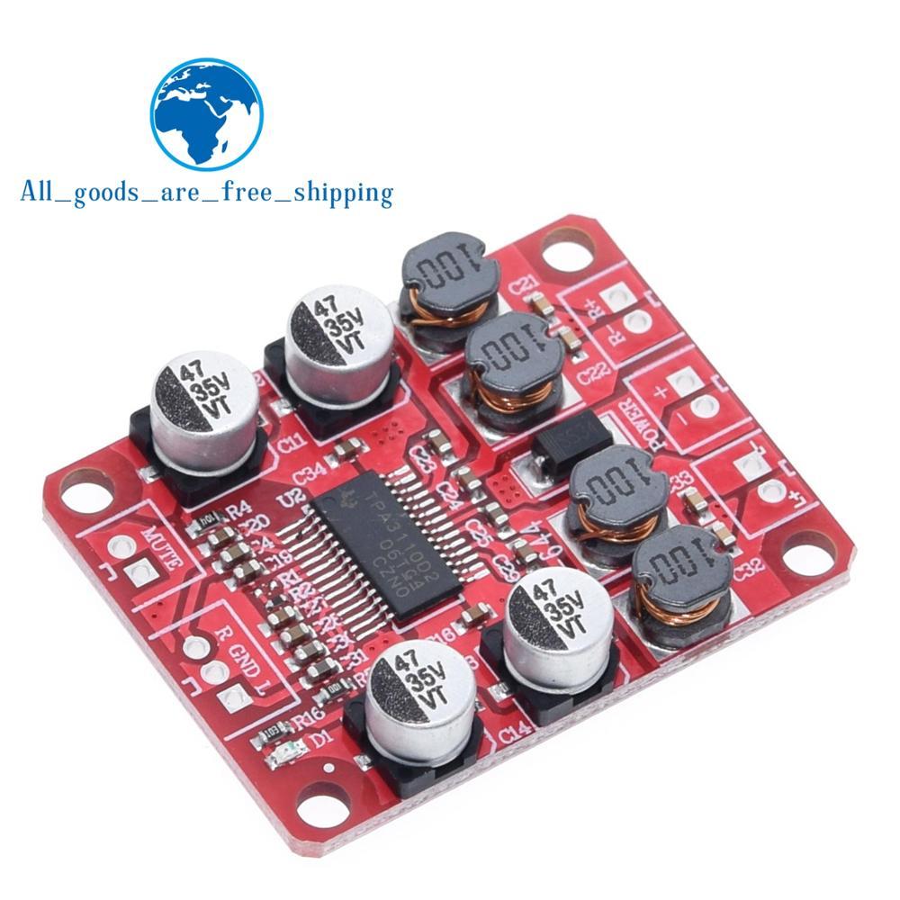 TZT TPA3110 цифровой усилитель мощности модуль 2x15 Вт двухканальный стерео DIY динамик усилитель электроники дизайн PCB DC 12V красный|Интегральные схемы|   | АлиЭкспресс