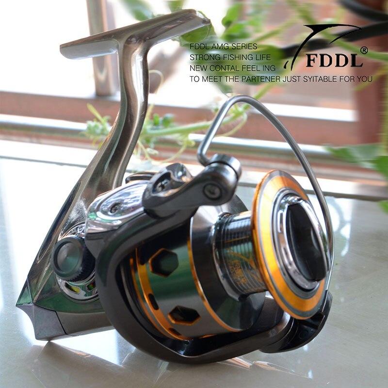 ФОТО New Arrival Hot 12 BB + 1BB 3000-6000 Series High Quality Spinning Fishing Reel Fish Wheel carretes de pescar Free Shipping