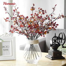 Handmade flowers long stem silk flowers artificial leaves fake plants trees branch folhas artificiais Home Decoration BouquetP20
