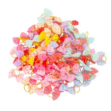 50pcs Wholesale Dogs Bows Hair Accessories with Rubber Band Cute Dots for Dog Grooming honden strikjes