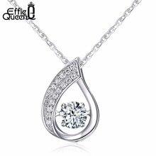 Effie queen nuevo parpadeo diseño circón 925 plata esterlina sólida señoras collares pendientes de la joyería al por mayor bn41