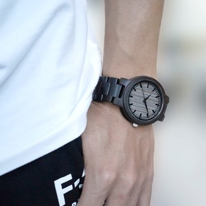 Image 5 - BOBO BIRD Mens Black Ebony Wooden Watch with Wooden Watch Male Strap Quartz Analog kol saati Luxury Dial Diameter Custom logo