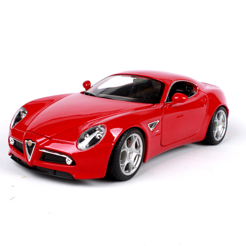 1:18 8C Competizione Simulation Model Toy Car Alloy Pull Back Children Toys Genuine License Collection Gift Off-Road Vehicle 1 32 suv ml63 simulation toy car model alloy pull back children toys genuine license collection gift off road vehicle kids toy