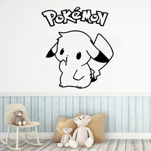 Exquisite pokemon Vinyl School Wall Stickers Wallpaper Bedroom Nursery Decoration Accessories For Baby Room Mural
