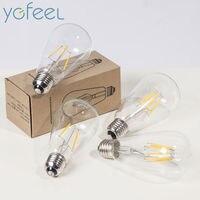 Retro Edison Light Bulbs Filament LED Light Bulb ST64 2W 4W 6W E27 AC90 260V 220V