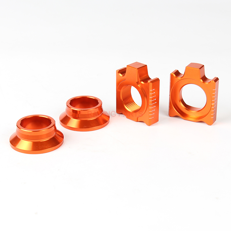 CNC Rear Chain Adjuster Axle Block And Rear Wheel Spacers Hub Collars For SX SX F XC XC F 125 250 350 450 530 Motorcycle in Rims from Automobiles Motorcycles