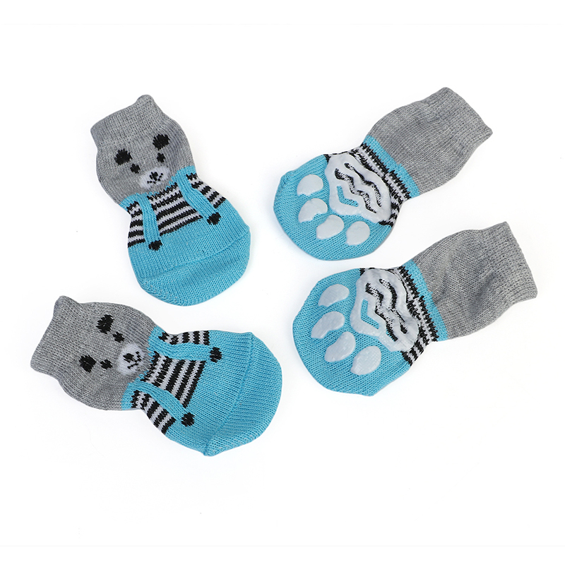 Systematic Pet Cat Socks Dog Socks Traction Control For Indoor Wear L/m/s Cat Clothing Cute Puppy Dogs Pet Knits Socks Slip Skid Cat Supplies