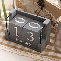 Nordic Modern Home Soft Decorations Bedroom Creative Calendar Ornaments Children's Room Wooden Small Desk Calendar Furnishings