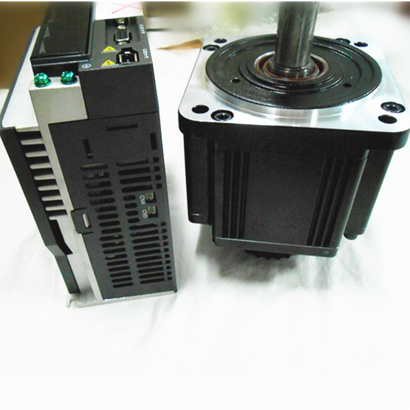 CNC 2KW AC Servo Motor & Drive kits System 220V 9.55NM 130mm with 3M Cable Servo System ECMA-E11320RS+ASD-A2-2023-U communication cable for servo drive mr cpcatcbl3m cable mr j2s a