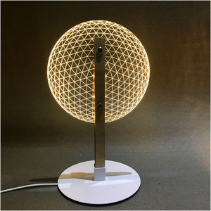 Image 3 - VIP Link 3D Effect Bloom Table Lamp Reading Novelty LED Night Light with  3D Optical Luminous Lampshades  Christmas Gift