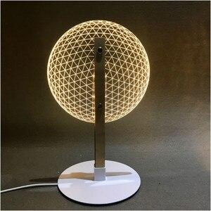 Image 3 - Настольная лампа для чтения VIP Link с 3D эффектом цветения, новинка, светодиодный ночсветильник с 3D оптическим светящимся абажуром, Рождественский подарок