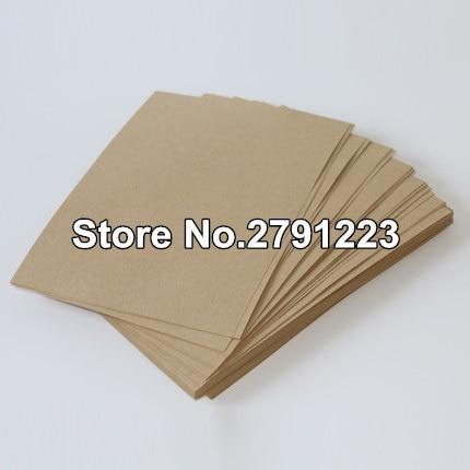 Бесплатная доставка A4 коричневый крафт-бумага картон картон карты пустой 100gsm в мешок несущей 150gsm 50шт/много