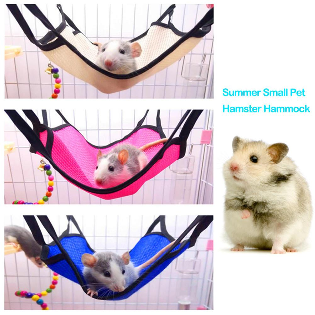 Hamster Hammock Swing Hanging Bed Nest House Mini Pet Cage for Syrian Hamster Sugar Glider Fancy Mouse Squirrel Chinchilla Cage(China)