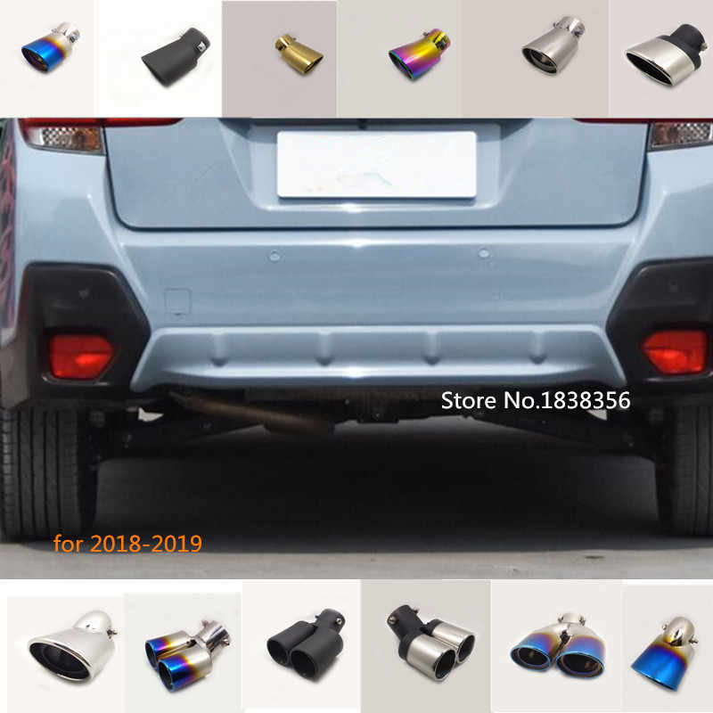 for subaru xv 2018 2019 2020 car body cover muffler exterior end pipe outlet dedicate stainless steel exhaust tip tail 1pcs