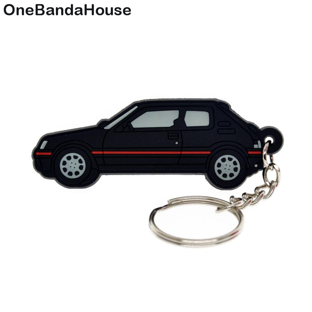 OneBandaHouse Custom Logo 2D Soft PVC Keychain for Promotional Gift