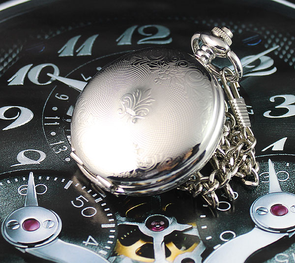 Luxury Fashion High Quality Double Open Alloy Mens Hand Winding Mechanical Watch