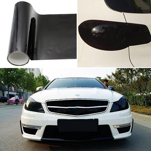 Top Quality Dark Smoke PVC Car Headlight Tint Film Taillight Tail Wrap Fog Light Sticker 30CM*100CM