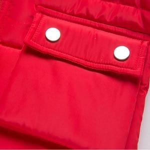 Image 5 - Veste pour enfants, automne hiver, vestes en duvet, Parka en fourrure, ensemble pantalon, nouvel an