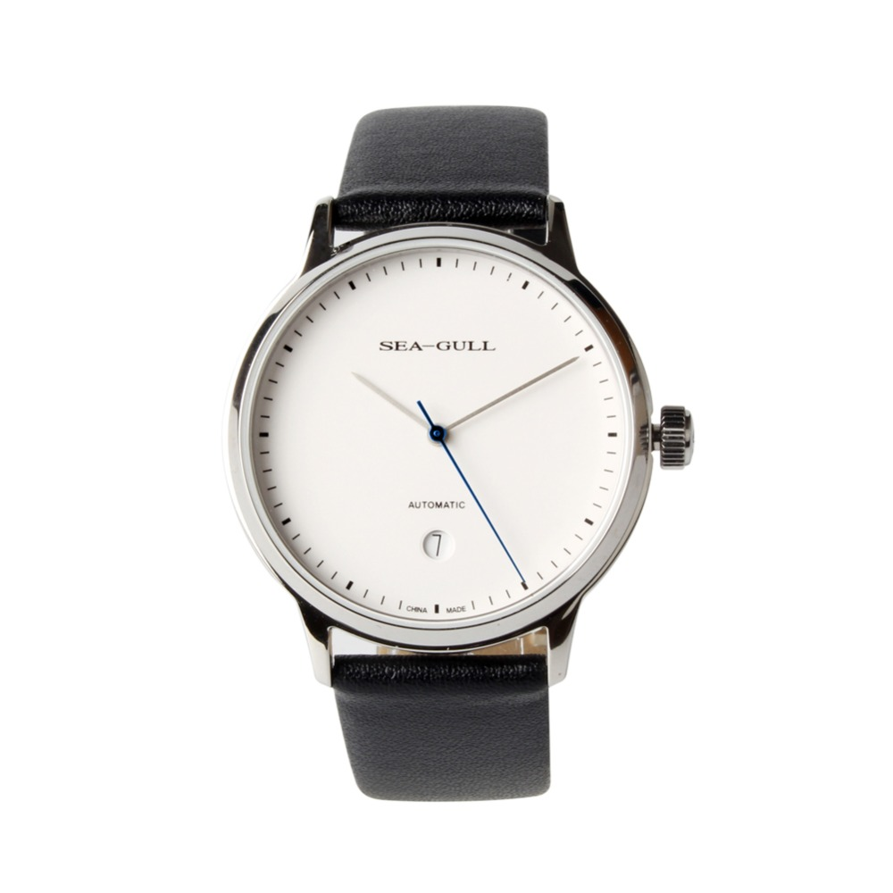 Simple Style Genuine Seagull 10mm Thin White Dial Date Sapphire Crystal ST2130 Movement Automatic Men s