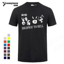 bc8d48ea9afd9 Celebrity Portrait T-shirt AC DC HIGHWAY TO HELL Men T Shirt Punk rock Band  Mens Tshirt 16 Colors Short Sleeve Cotton Tops Tees