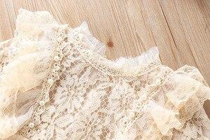 Image 5 - 2019スウィートガールレースメッシュ長袖プリンセスドレスキッズファッションパーティー誕生日のドレス子供服