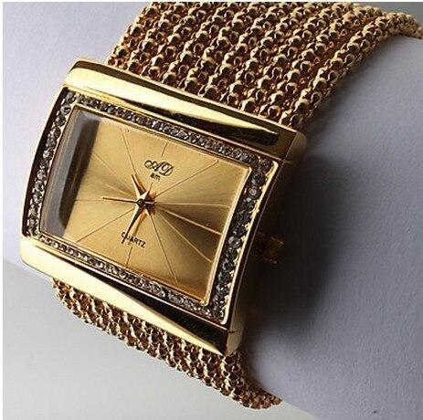 Women's gold diamond bracelet watch alloy case, new fashion luxury brand watches, Swiss quartz roses - Parkway of E-commerce Co., Ltd. store