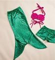 Niñas boutique de la sirena de los cequis vestido de sistemas de la ropa shorts hot pink Bikini ropa con pantalones cortos y oscilación del bebé traje de baño
