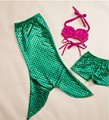 girls boutique mermaid sequins dress clothing sets shorts hot pink Bikini clothes with shorts pants and  baby swing bathing suit