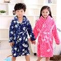 Hot 2016 New Winter Children's Bathrobes 8 Colors Boy Girl Animal Flannel Robes Baby Bathrobe Kids Hooded Bath Pajamas