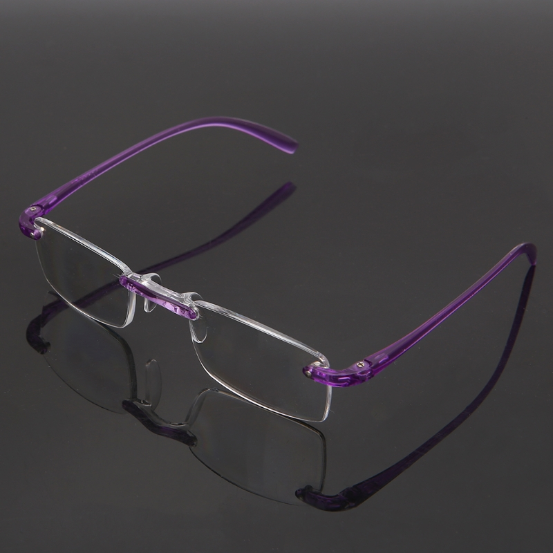 Fashion Unisex Clear Rimless Flexible Reading Glasses Eyewear Reader +1.00 ~4.00 W715