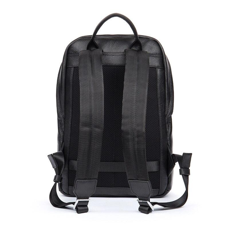 DANJUE hommes sac à dos en cuir véritable noir couleur sacoche pour ordinateur portable professionnel sac d'école étudiant de haute qualité en cuir véritable sac à dos de voyage - 3
