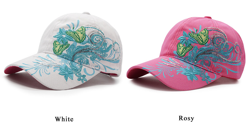 27c81ba405 HOT SALE] Women Fashion Flower Butterfly Baseball Cap Girls ...