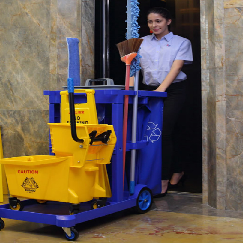 Hotel KTV Apartment Office Buildings Rolling Cart Bar Cart Room Cleaning Rubbish Cart FREE SHIPPING