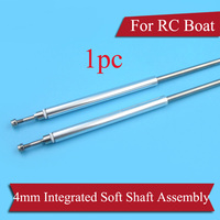 1PC Speed Boat/O boat Model 4mm Flexible Shaft Assembly Positive Reverse Thread Soft Shaft Kit Include Shaft Sleeve PTFE Tube