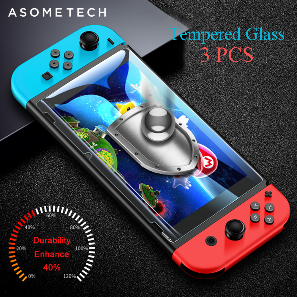 3PCS Screen Protectors For Nintend Switch 0.3mm 9H Tempered Glass For Nintendo Switch Console NS For Nintend Switch Accessories