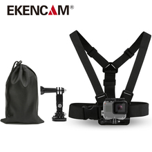 EKENCAM Traveling Accessories Kits Chest Strap 3 Way Arm Mount Waterproof Storage Bag For GoPro Hero 5 4 SJCAM Xiaomi yi Camera