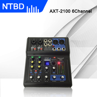 New!professional mini Karaoke Microphone Mixer 6 Channels 8 Channels USB Sound Card 16 DSP Sound Console Equipment DJ