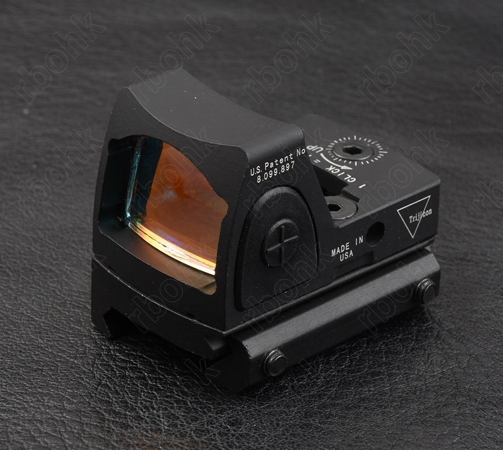 Mini RMR 1x Red Dot Sight scope Collimator Glock / Shotgun Reflex Sight Scope fit 20mm picatinny rail mount M9897 mini rmr style 1x red dot sight scope for picatinny rail and glock base mount key switch 6 moa black m6293