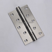 2PCS/lot 5Inch*3Inch*3mm Stainless Steel Brushed Door Hinges Extra thick Smooth&Quiet Mute Door Hinges Furniture Hardware