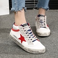 {D&H}Brand Shoes 2016 Five Star Casual Shoes Women Breathable Spell Color Canvas Shoes Retro Style Flats chaussure femme rihanna