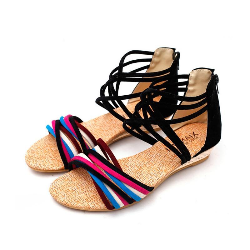 2018 női cipő nyári női szandál divat lélegző alkalmi sík - Női cipő