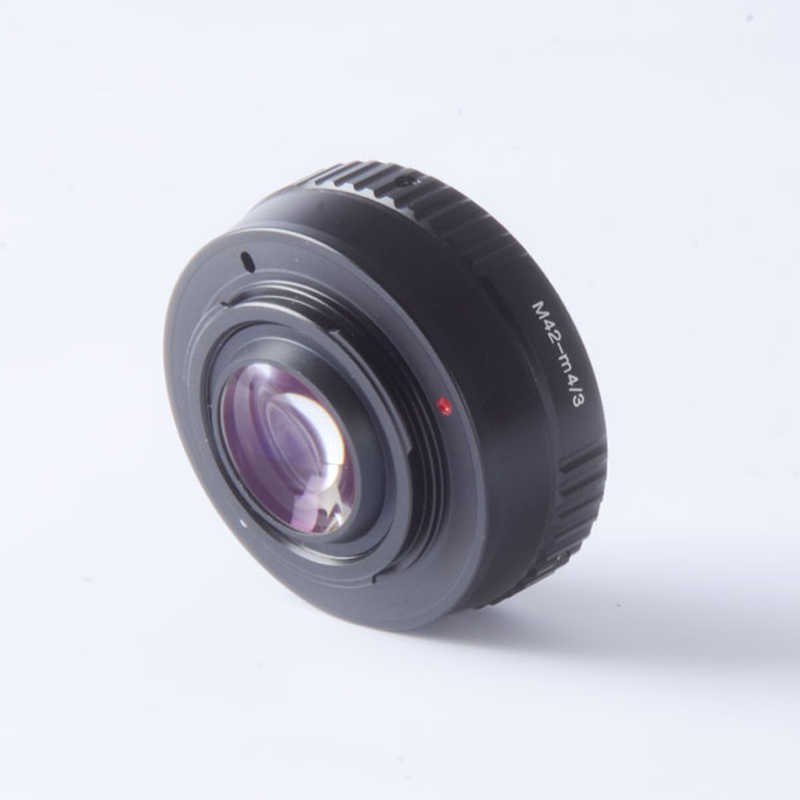 Focal Reducer Speed Booster Turbo Adapter for M42 Mount Lens to Camera M4/3 mft GH4 GF6 GX1 GX7 EM5 EM1 E-PL5 BMPCC